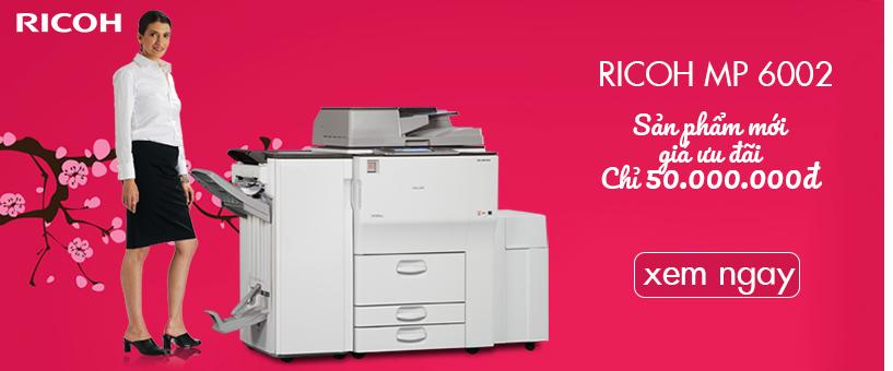 Banner máy photocopy ricoh mp 6002
