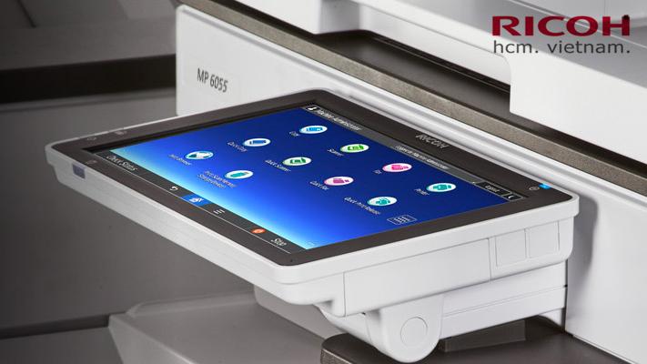 máy photocopy ricoh mp 6055 màn hình cảm ứng