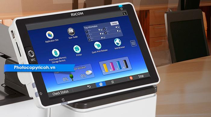 máy in màu ricoh sp c840dn màn hình cảm ứng
