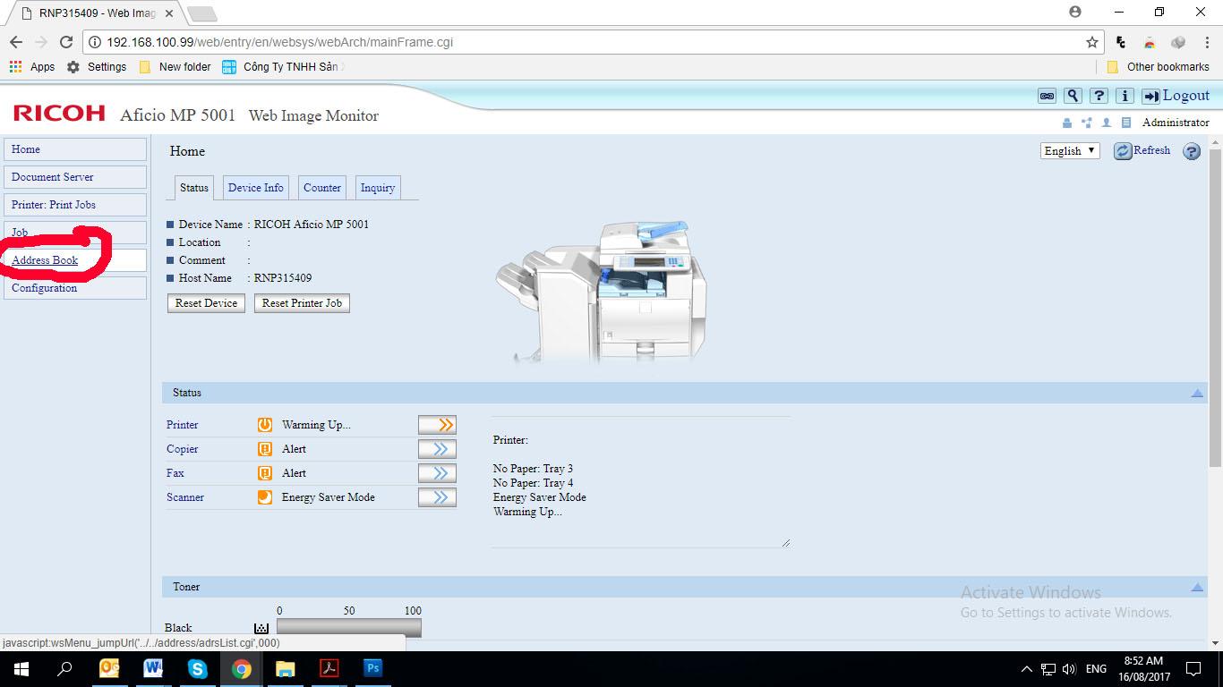Hướng dẫn scan folder ở máy photocopy