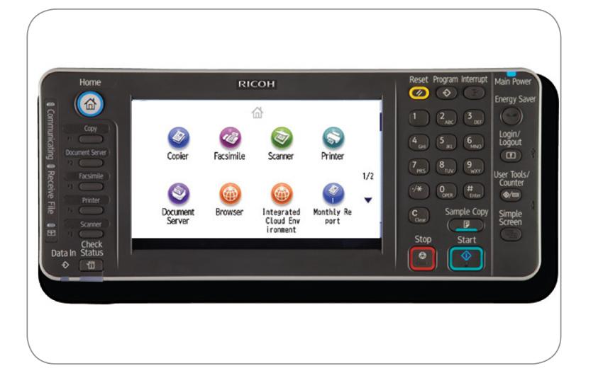 bảng điều khiển và màn hình ricoh mp 9002